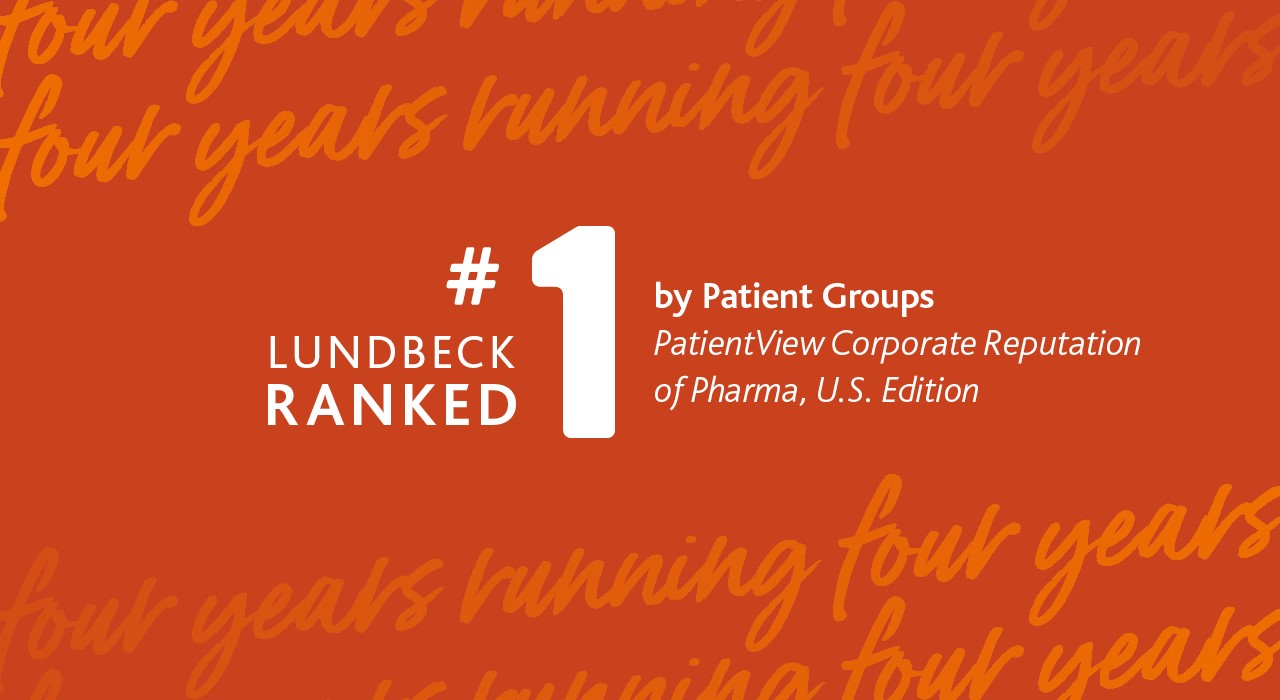 LUNDBECK TOPS CORPORATE REPUTATION RANKINGS FOR FOURTH CONSECUTIVE YEAR